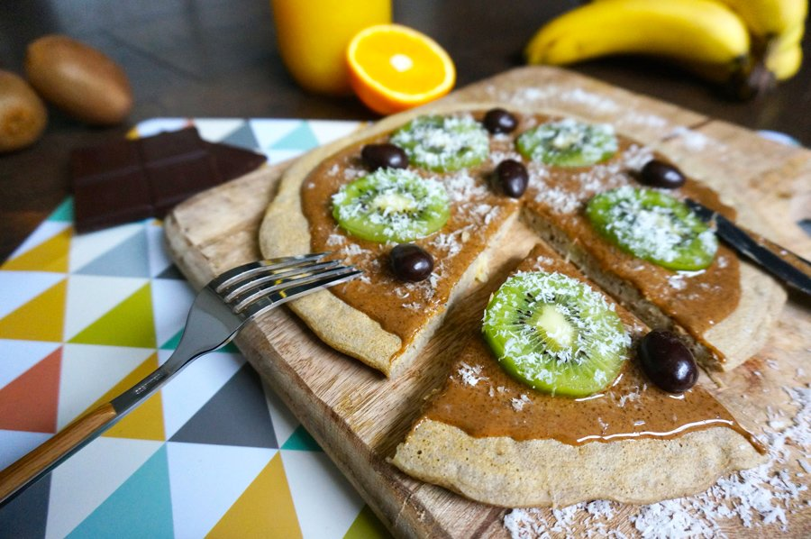 Healthy express pancakes