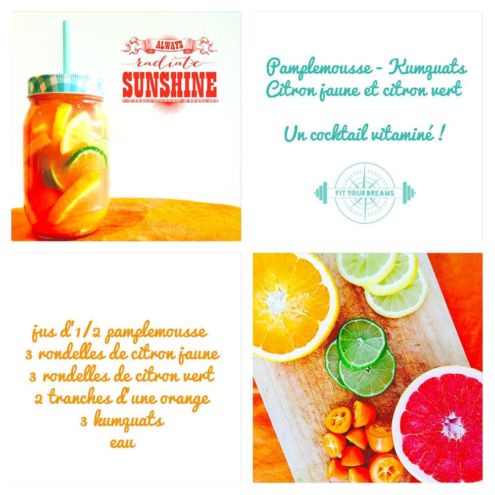 Eau detox Pamplemousse Kumquats Citrons : cocktail vitaminé !