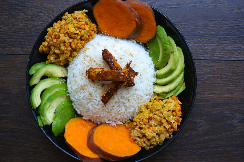 Orange buddha bowl de Fit Your Dreams