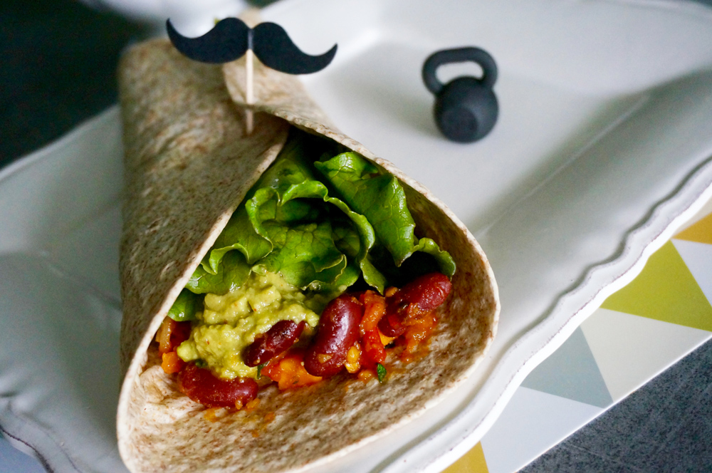 Burritos vegan aux haricots rouges