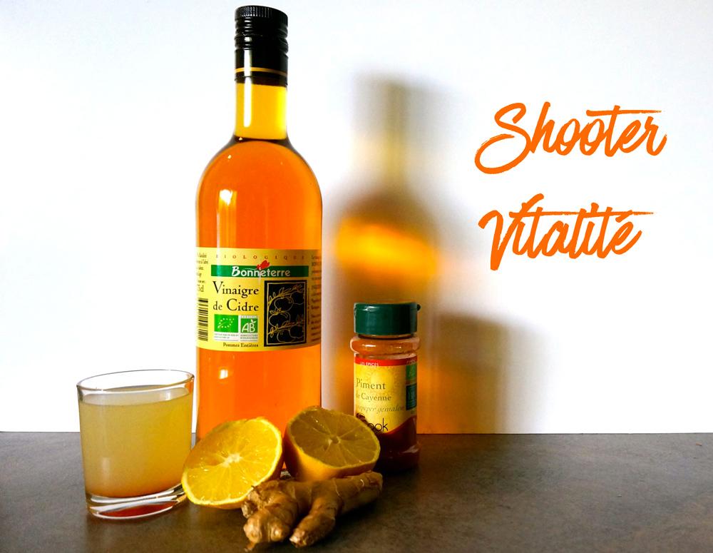 Shooter vitalité au vinaigre de cidre